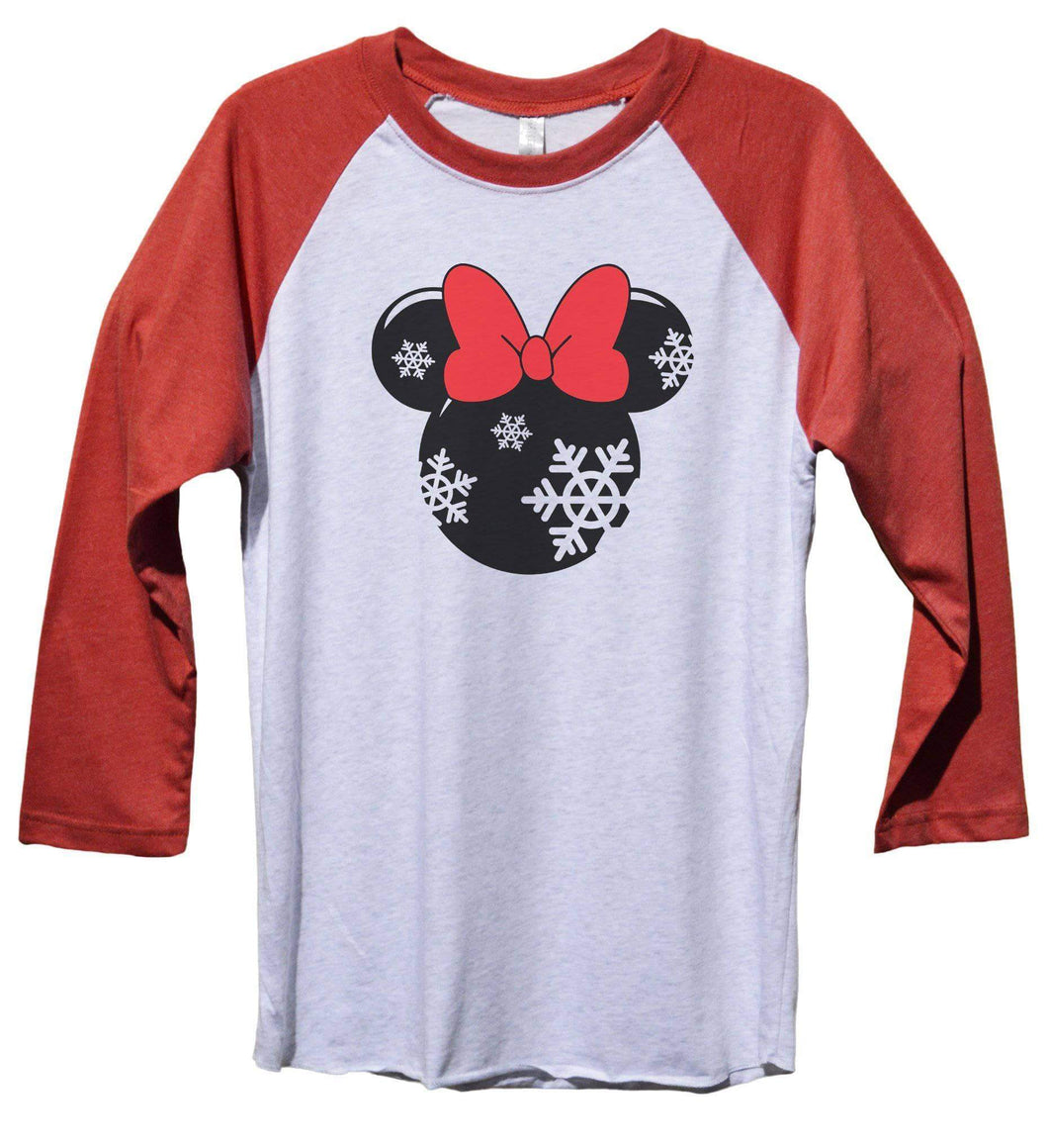 Minnie Mouse Disney Funny Christmas - Unisex Baseball Tee Mens And Womens  Womens Tank Tops