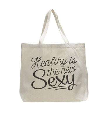 Healthy Is The New Sexy - Trendy Natural Canvas Bag - Funny and Unique - Tote Bag  Womens Tank Tops