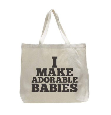 I Make Adorable Babies - Trendy Natural Canvas Bag - Funny and Unique - Tote Bag  Womens Tank Tops