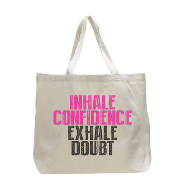 Inhale Confidence Exhale Doubt - Trendy Natural Canvas Bag - Funny and Unique - Tote Bag  Womens Tank Tops