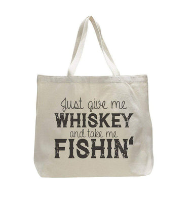 Just Give Me Whiskey And Take Me Fishin' - Trendy Natural Canvas Bag - Funny and Unique - Tote Bag  Womens Tank Tops
