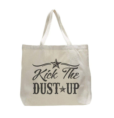 Kick The Dust Up - Trendy Natural Canvas Bag - Funny and Unique - Tote Bag  Womens Tank Tops