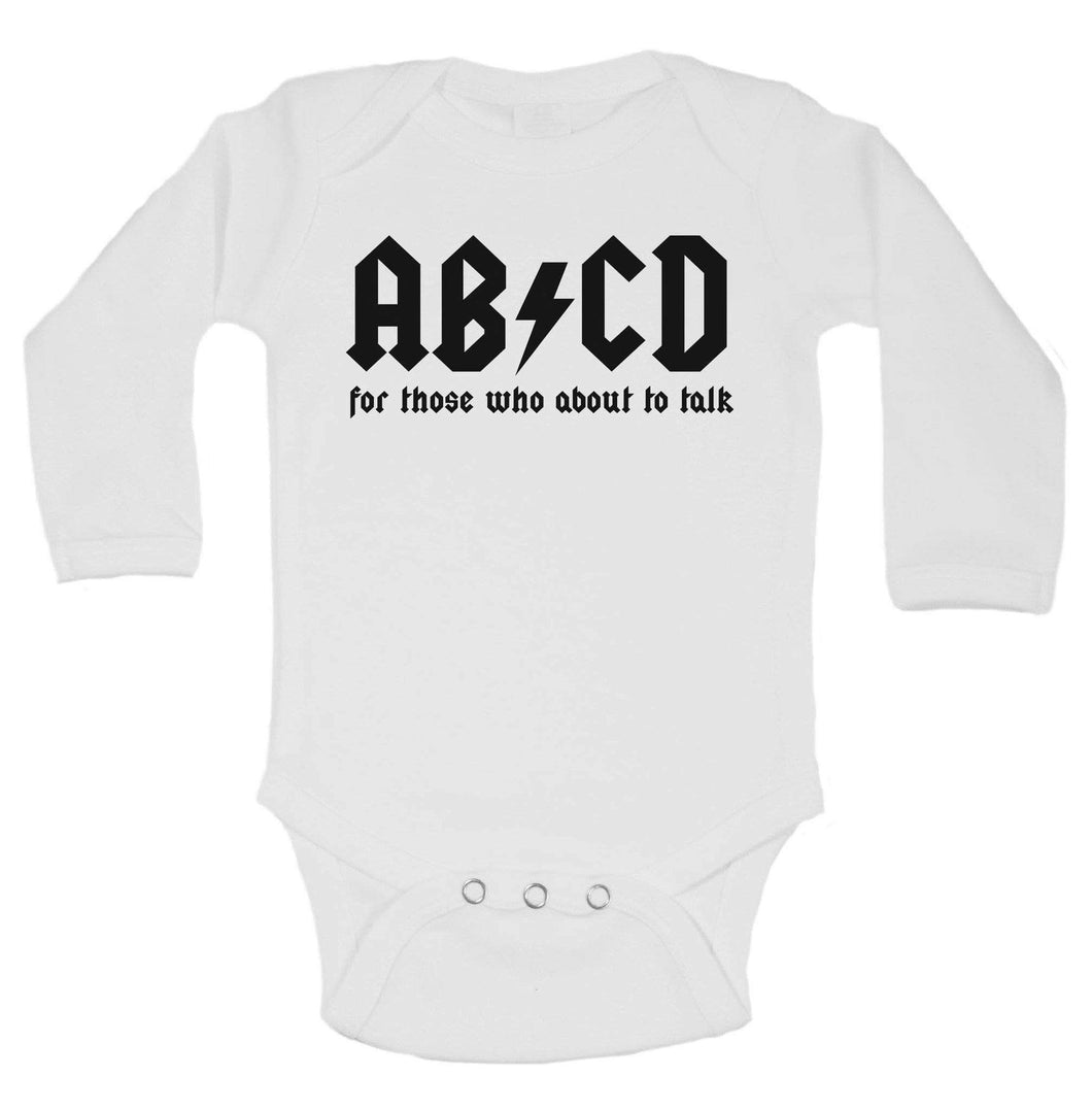 ABCD For Those Who About To Talk Funny Kids Onesie Long Sleeve 0-3 Months Womens Tank Tops