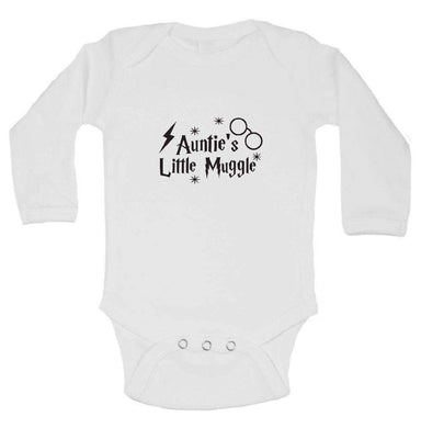 Auntie's Little Muggle FUNNY KIDS ONESIE Long Sleeve 0-3 Months Womens Tank Tops