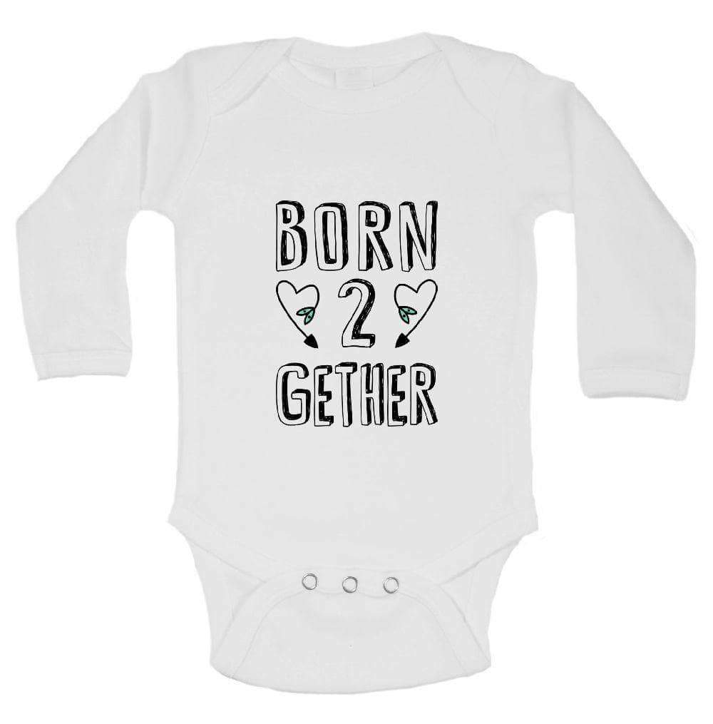 Born 2 Gether FUNNY KIDS ONESIE Long Sleeve 0-3 Months Womens Tank Tops