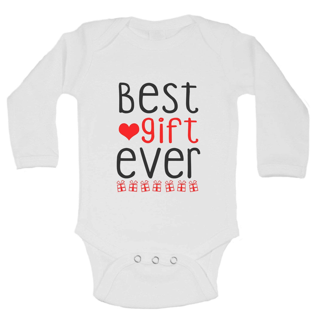 Christmas Onesies -ξBest Gift Ever FUNNY KIDS ONESIE Long Sleeve 0-3 Months Womens Tank Tops