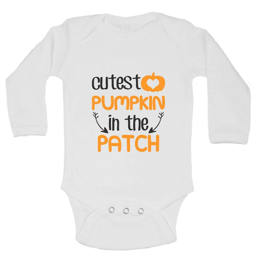 Christmas Onesies -ξCutest PUMPKIN In The PATCH FUNNY KIDS ONESIE Long Sleeve 0-3 Months Womens Tank Tops