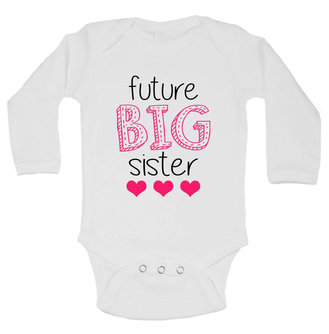 Future Big Sister Funny Kids Onesie Long Sleeve 0-3 Months Womens Tank Tops