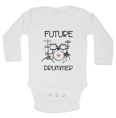 Future Drummer FUNNY KIDS ONESIE Long Sleeve 0-3 Months Womens Tank Tops