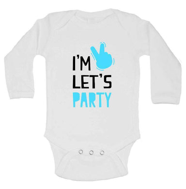 I'm Let's Party FUNNY KIDS ONESIE Long Sleeve 0-3 Months Womens Tank Tops