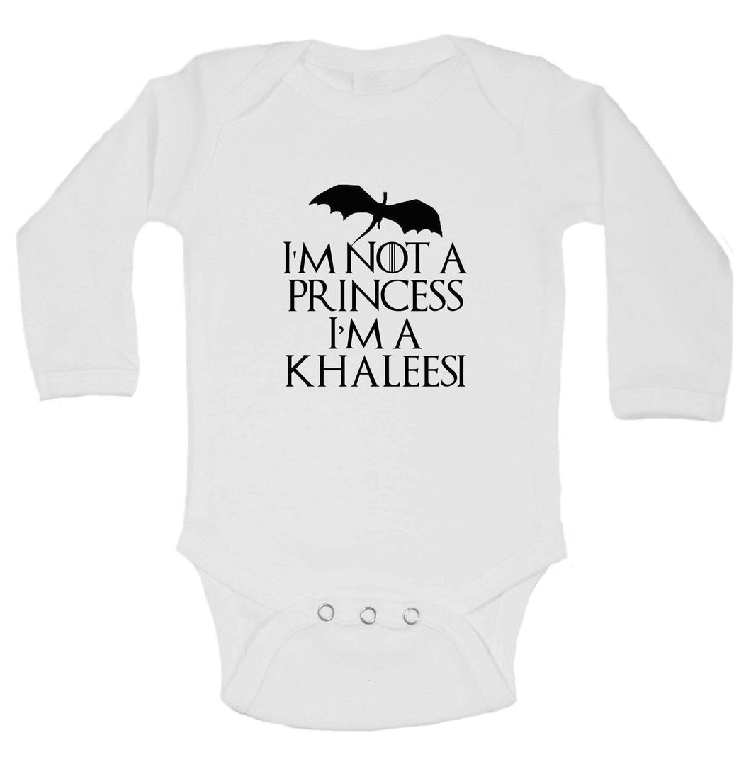 I'm Not A Princess I'm A Khaleesi Funny Kids Onesie Long Sleeve 0-3 Months Womens Tank Tops