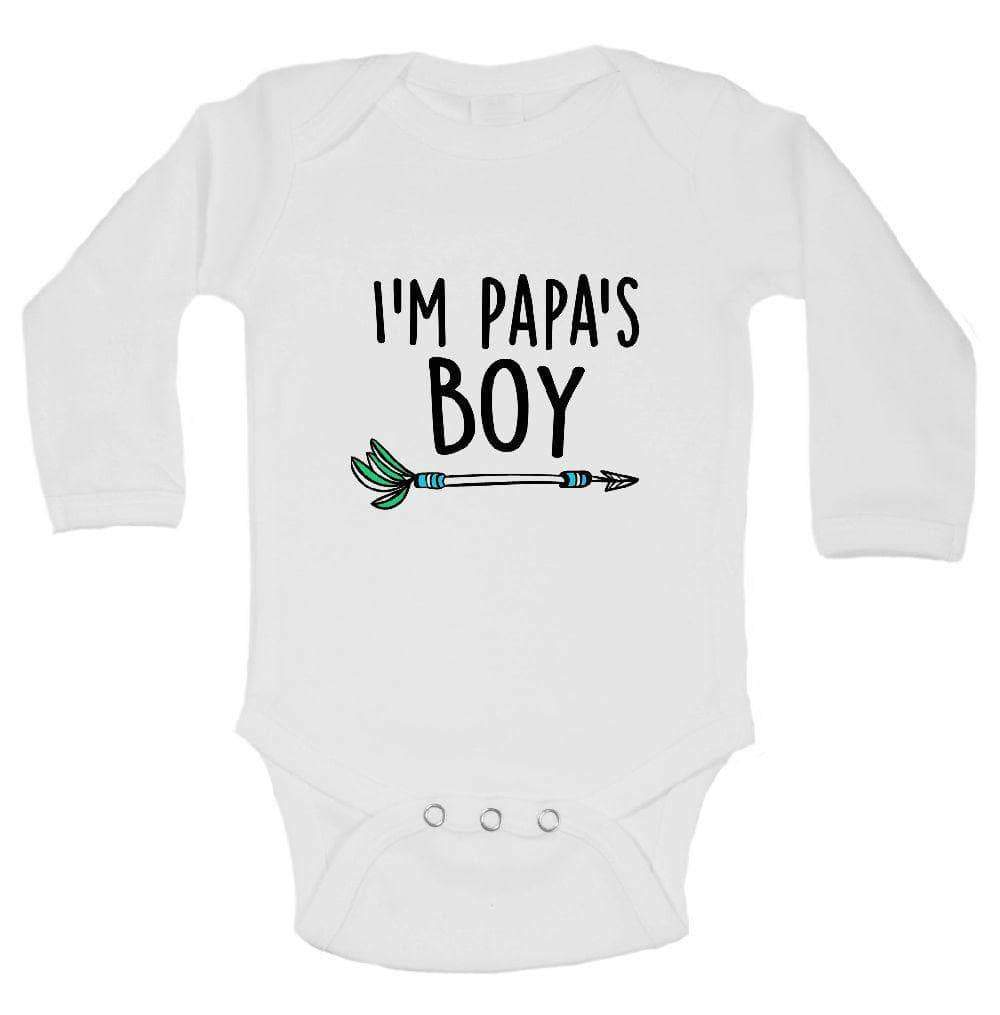 I'm Papa's Boy FUNNY KIDS ONESIE Long Sleeve 0-3 Months Womens Tank Tops