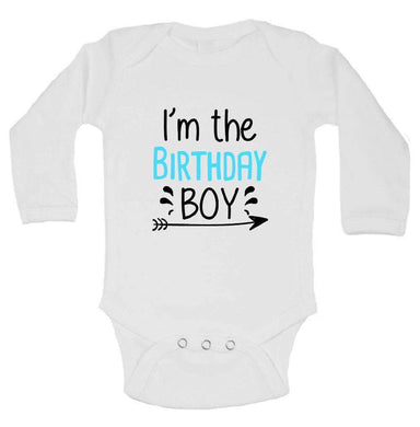 I'm The Birthday Boy FUNNY KIDS ONESIE Long Sleeve 0-3 Months Womens Tank Tops