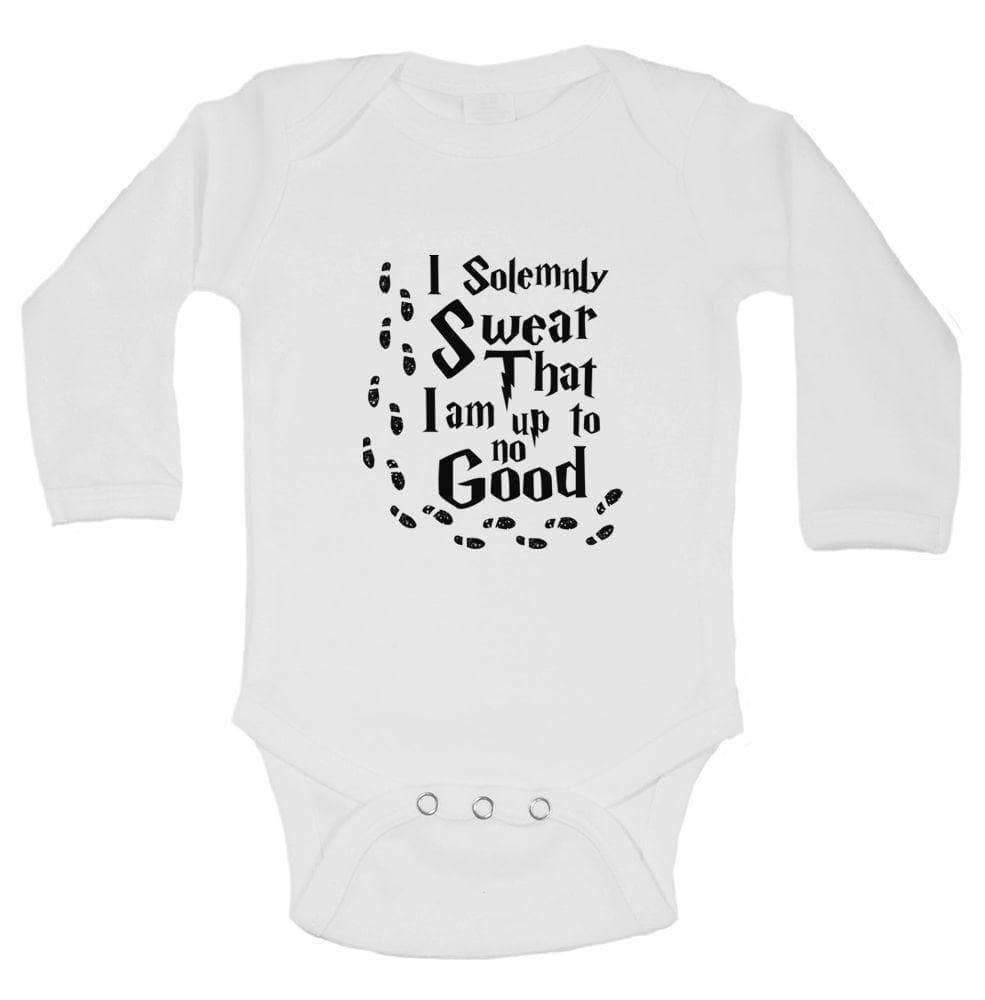 I Solemnly Swear That I Am Up To No Good Funny Kids Onesie Long Sleeve 0-3 Months Womens Tank Tops