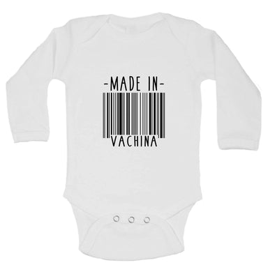 Made In Vachina FUNNY KIDS ONESIE Long Sleeve 0-3 Months Womens Tank Tops