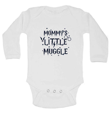 Mommy's Little Muggle Funny Kids Onesie Long Sleeve 0-3 Months Womens Tank Tops