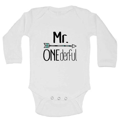 Mr. Onederful FUNNY KIDS ONESIE Long Sleeve 0-3 Months Womens Tank Tops