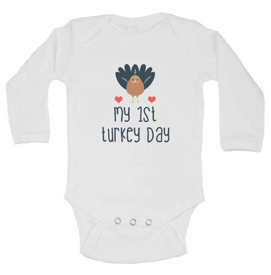My 1st Turkey Day FUNNY KIDS ONESIE Long Sleeve 0-3 Months Womens Tank Tops