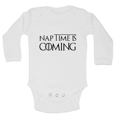Nap Time Is Coming Funny Kids Onesie Long Sleeve 0-3 Months Womens Tank Tops