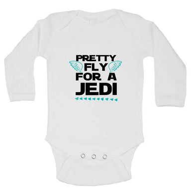 Pretty Fly For A Jedi FUNNY KIDS ONESIE Long Sleeve 0-3 Months Womens Tank Tops