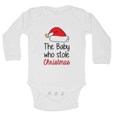The Baby Who Stole Christmas FUNNY KIDS ONESIE Long Sleeve 0-3 Months Womens Tank Tops