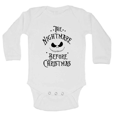 The Nightmare Before Christmas FUNNY KIDS ONESIE Long Sleeve 0-3 Months Womens Tank Tops