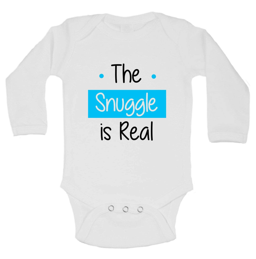 The Snuggle Is Real Funny Kids Onesie Long Sleeve 0-3 Months Womens Tank Tops
