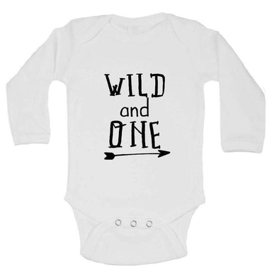 Wild And One FUNNY KIDS ONESIE Long Sleeve 0-3 Months Womens Tank Tops