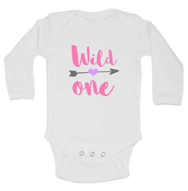 Wild One FUNNY KIDS ONESIE Long Sleeve 0-3 Months Womens Tank Tops