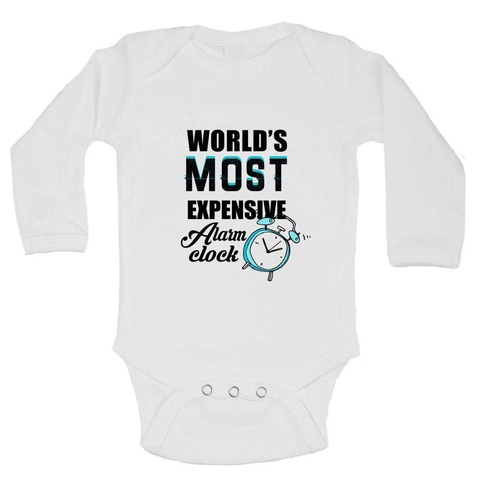 World's Most Expensive Alarm Clock Funny Kids Onesie Long Sleeve 0-3 Months Womens Tank Tops