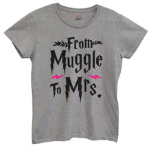 Womens From Muggle To Mrs Tshirt Medium Womens Tank Tops Grey Tshirt