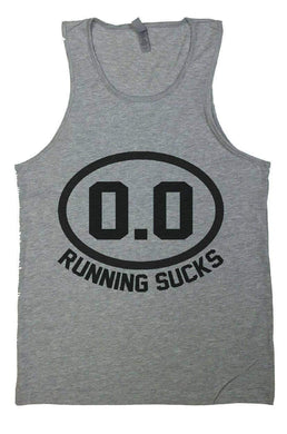 0.0 Running Sucks Mens Funny Marathon Tank Top - Running Humor shirt Small Womens Tank Tops Grey