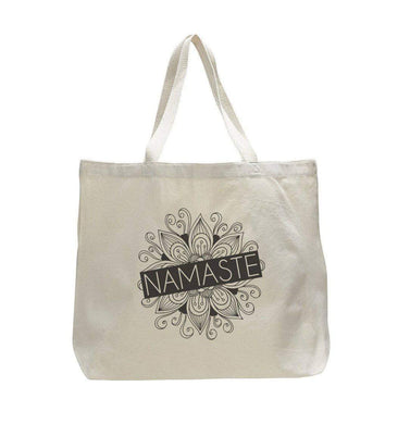 Namaste - Trendy Natural Canvas Bag - Funny and Unique - Tote Bag  Womens Tank Tops
