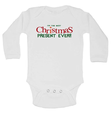 I'm The Best Christmas Present Ever!! Funny Kids Onesie  Womens Tank Tops