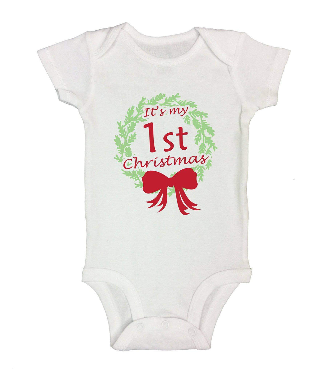 It's My 1st Christmas Funny Kids Onesie  Womens Tank Tops