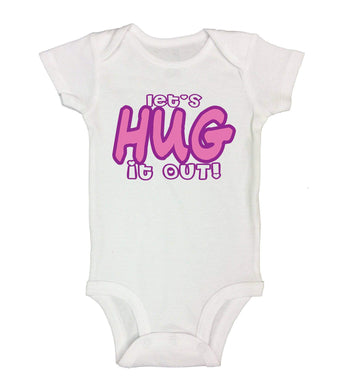 Let's Hug It Out! Funny Kids Onesie  Womens Tank Tops