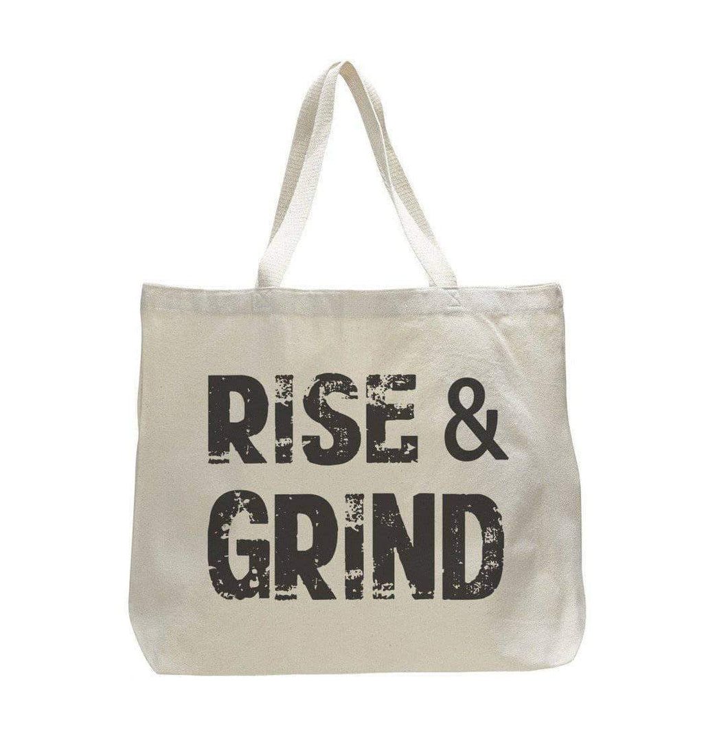 Rise And Grind - Trendy Natural Canvas Bag - Funny and Unique - Tote Bag  Womens Tank Tops
