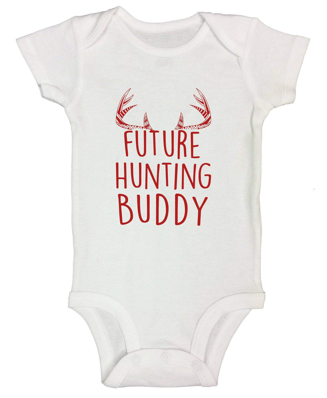 Future Hunting Buddy FUNNY KIDS ONESIE Short Sleeve 0-3 Months Womens Tank Tops