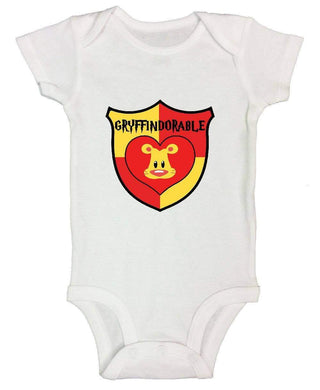 Gryffindorable FUNNY KIDS ONESIE Short Sleeve 0-3 Months Womens Tank Tops