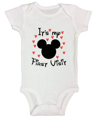 It's My First Visit FUNNY KIDS ONESIE Short Sleeve 0-3 Months Womens Tank Tops