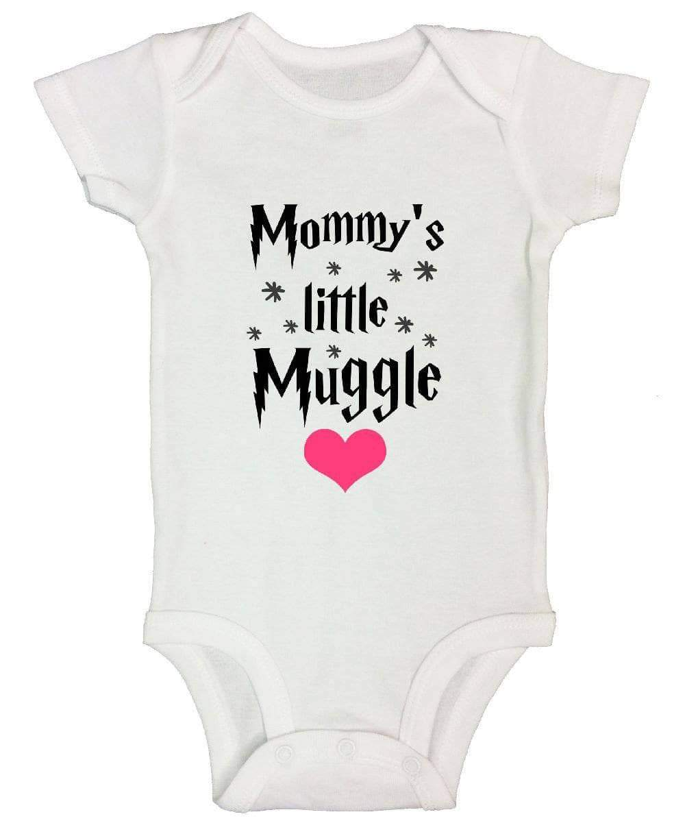 Mommy's Little Muggle FUNNY KIDS ONESIE Short Sleeve 0-3 Months Womens Tank Tops