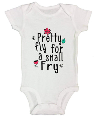 Pretty Fly For A Small Fry FUNNY KIDS ONESIE Short Sleeve 0-3 Months Womens Tank Tops