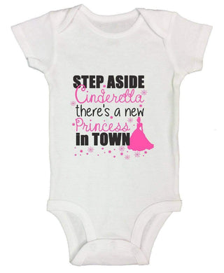 Step Aside Cinderella There's A New Princess In Town FUNNY KIDS ONESIE Short Sleeve 0-3 Months Womens Tank Tops