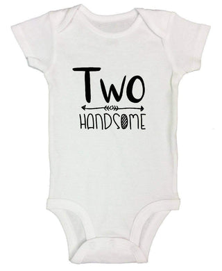 Two Handsome FUNNY KIDS ONESIE Short Sleeve 0-3 Months Womens Tank Tops