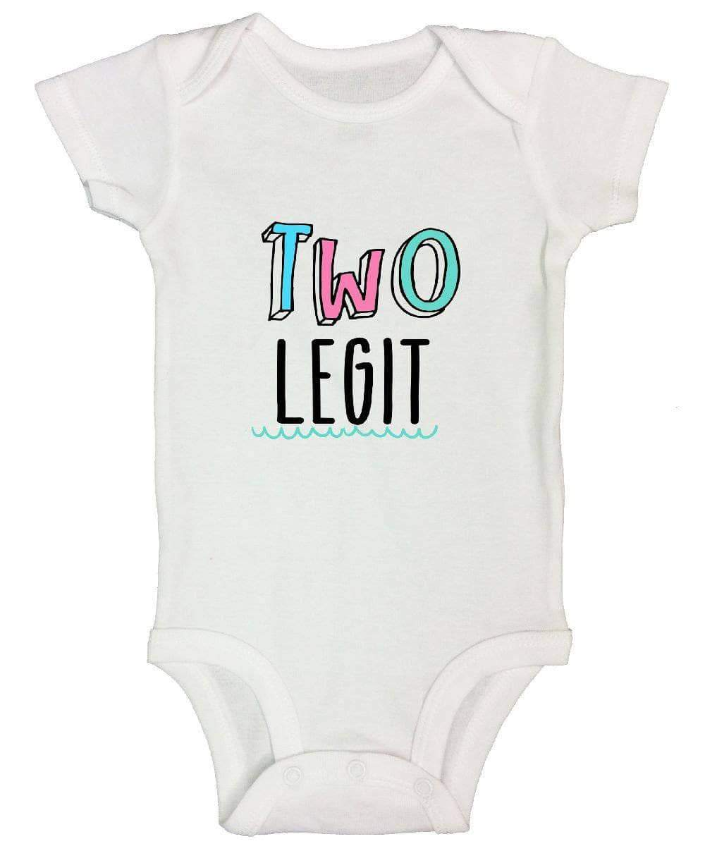 Two Legit FUNNY KIDS ONESIE Short Sleeve 0-3 Months Womens Tank Tops