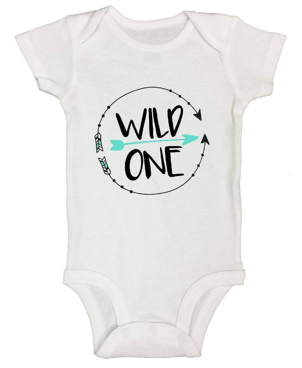 Wild One FUNNY KIDS ONESIE Short Sleeve 0-3 Months Womens Tank Tops