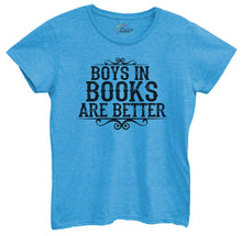 Womens Boys In Books Are Better Tshirt Small Womens Tank Tops Blue Tshirt