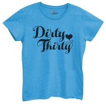 Womens Dirty Thirty Tshirt Small Womens Tank Tops Blue Tshirt