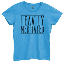 Womens Heavily Meditated Tshirt Small Womens Tank Tops Blue Tshirt