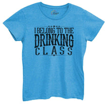 Womens I Belong To The Drinking Class Tshirt Small Womens Tank Tops Blue Tshirt
